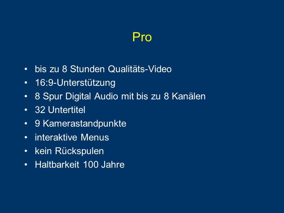 Pro bis zu 8 Stunden Qualitäts-Video 16:9-Unterstützung