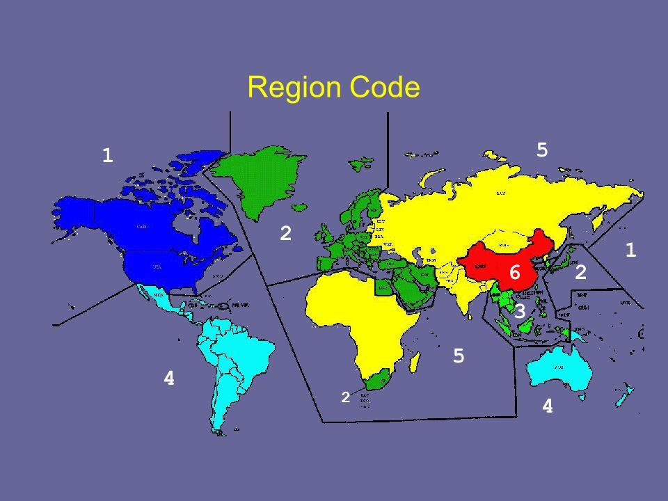 Region Code 5 1 2 1 6 2 3 5 4 2 4