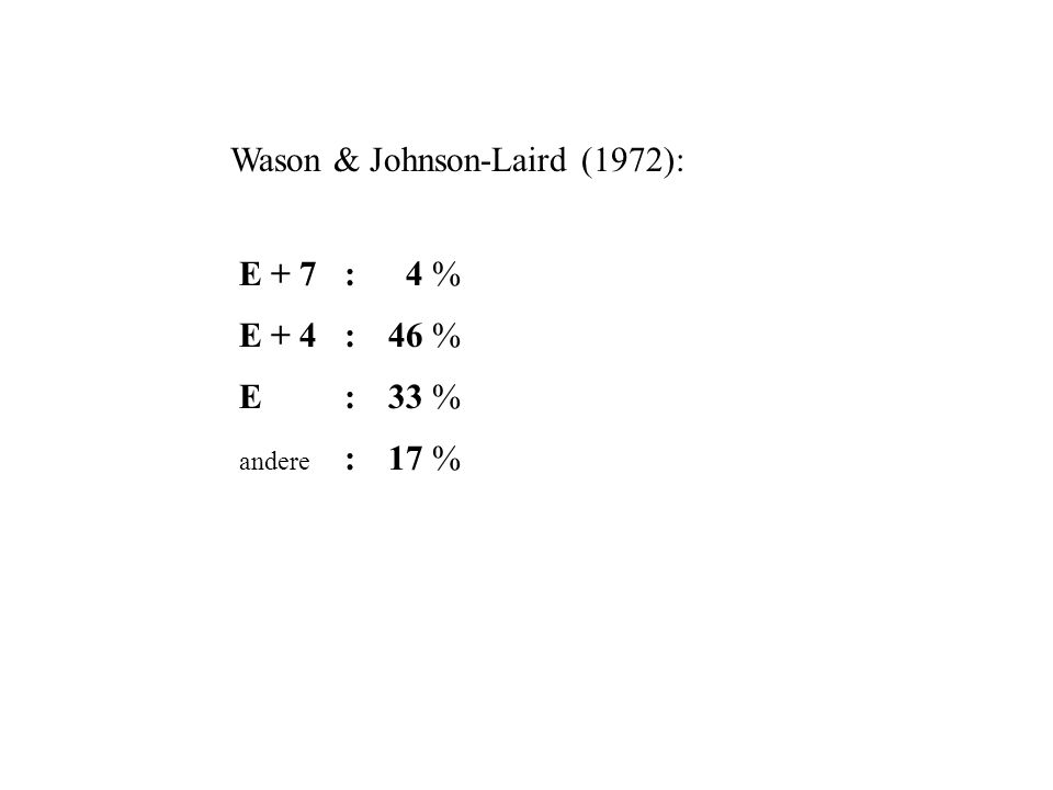 Wason & Johnson-Laird (1972):