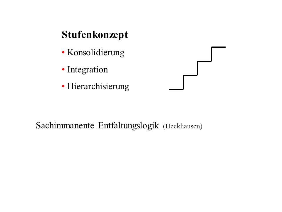 Stufenkonzept Konsolidierung Integration Hierarchisierung