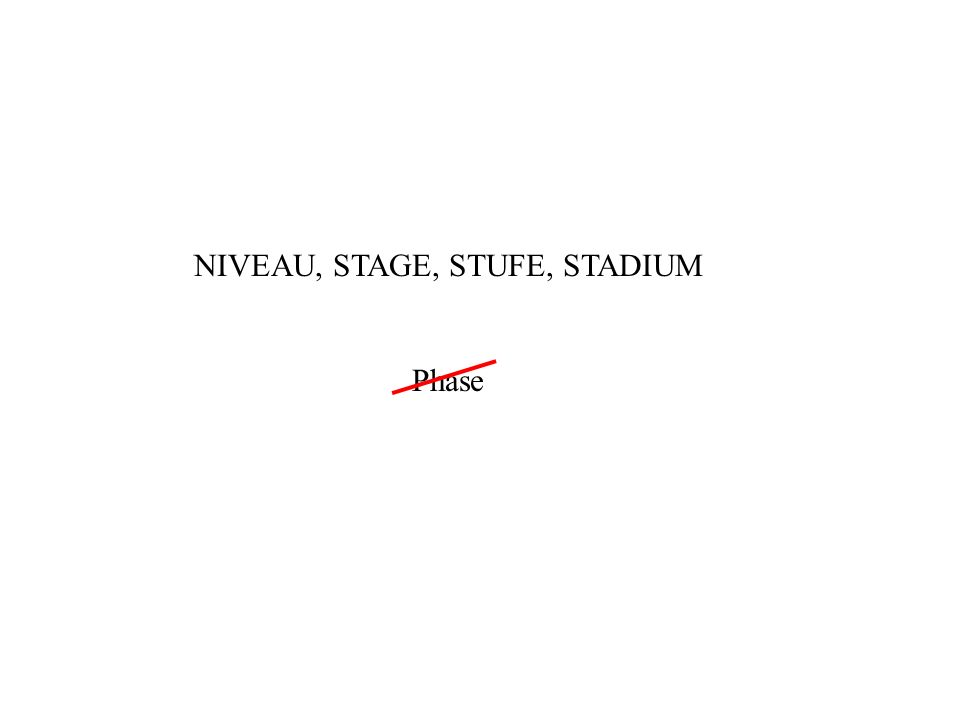 NIVEAU, STAGE, STUFE, STADIUM