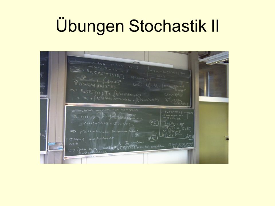 Übungen Stochastik II
