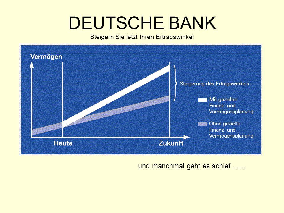 DEUTSCHE BANK Steigern Sie jetzt Ihren Ertragswinkel