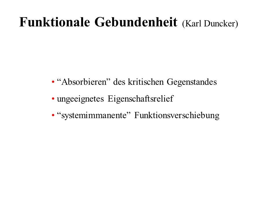 Funktionale Gebundenheit (Karl Duncker)