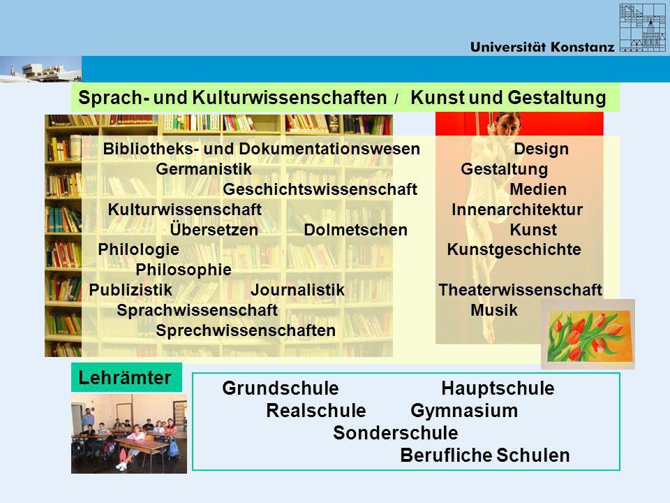 Sprach- und Kulturwissenschaften / Kunst und Gestaltung