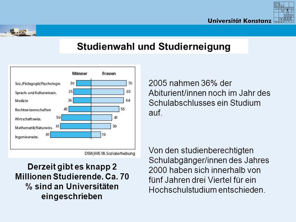 Studienwahl und Studierneigung