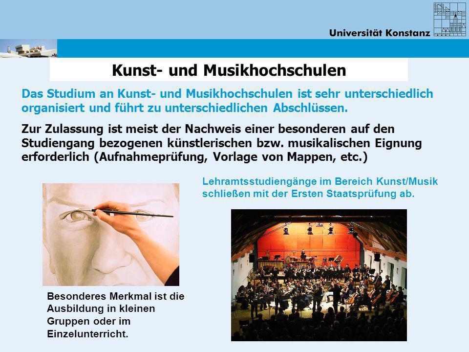 Kunst- und Musikhochschulen