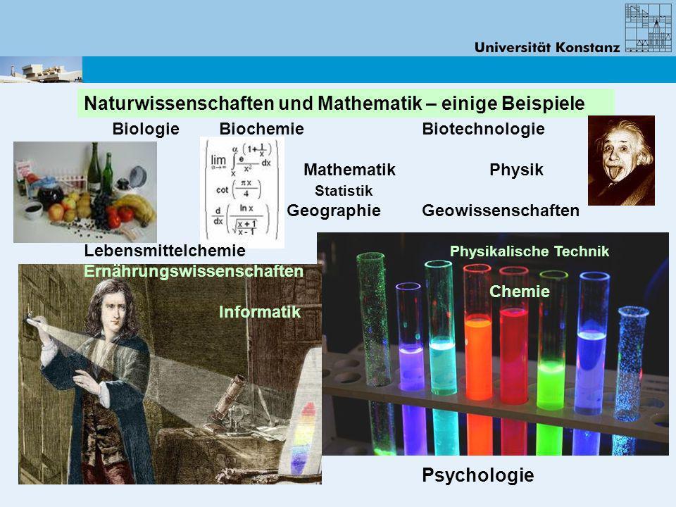 Naturwissenschaften und Mathematik – einige Beispiele