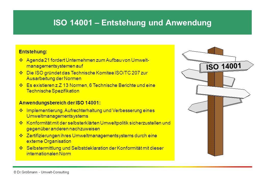 ISO 14001 – Entstehung und Anwendung