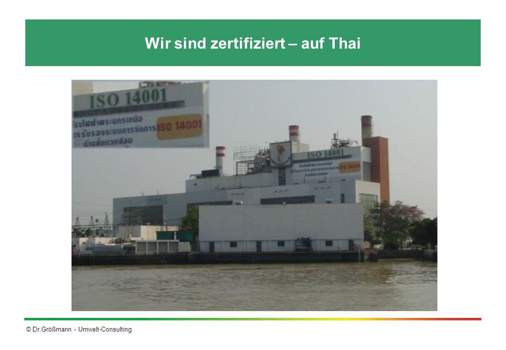 Wir sind zertifiziert – auf Thai