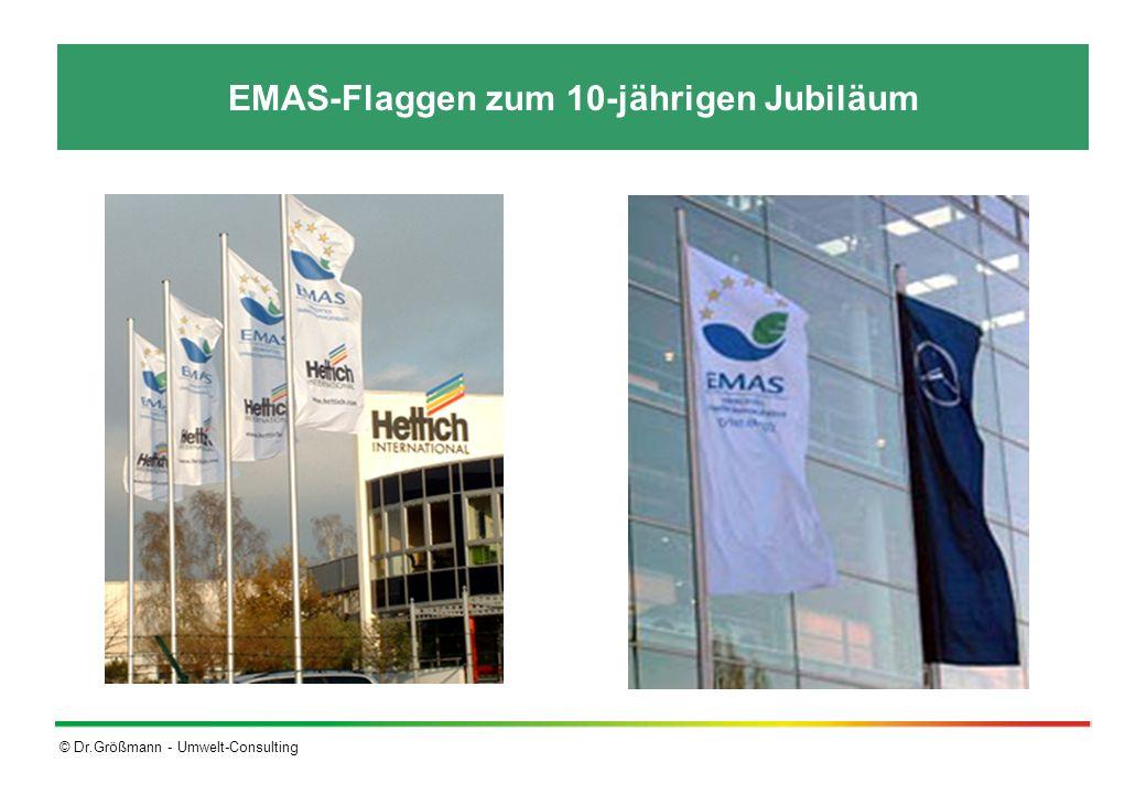 EMAS-Flaggen zum 10-jährigen Jubiläum