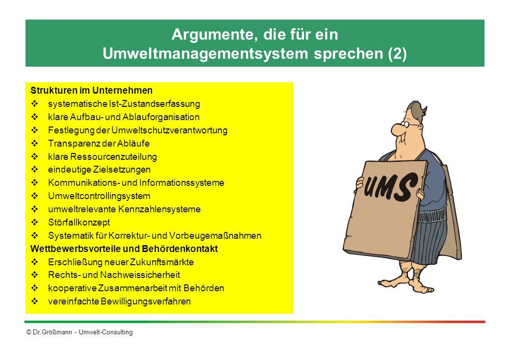 Argumente, die für ein Umweltmanagementsystem sprechen (2)