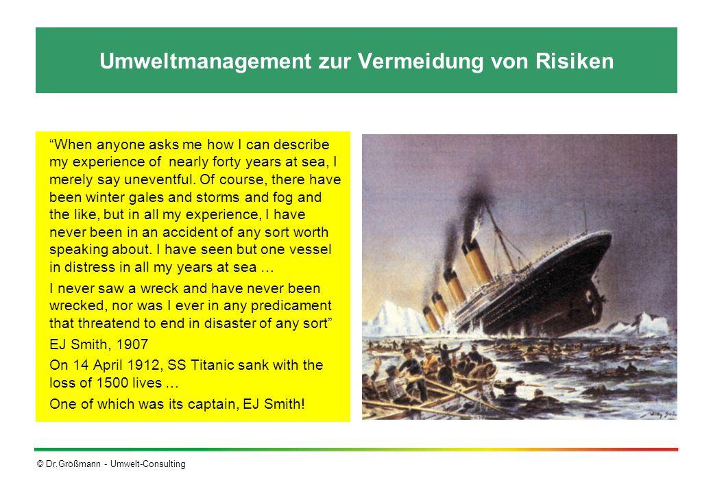 Umweltmanagement zur Vermeidung von Risiken
