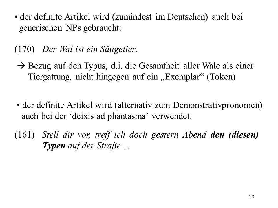 der definite Artikel wird (zumindest im Deutschen) auch bei generischen NPs gebraucht: