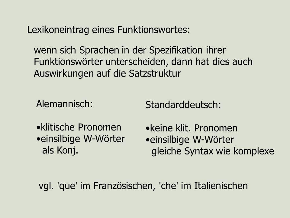 Lexikoneintrag eines Funktionswortes: