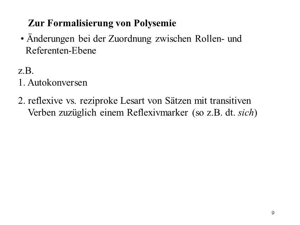 Zur Formalisierung von Polysemie