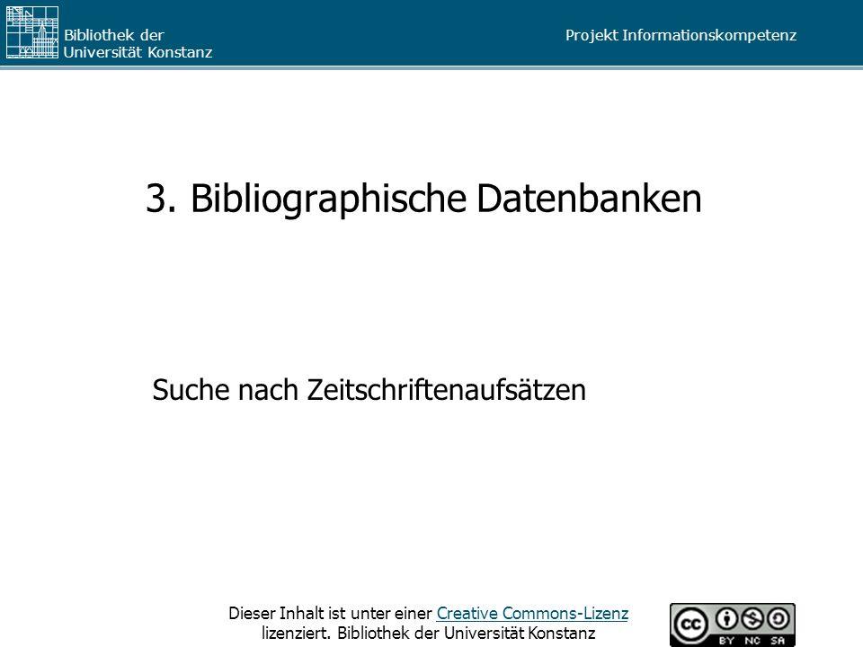 3. Bibliographische Datenbanken