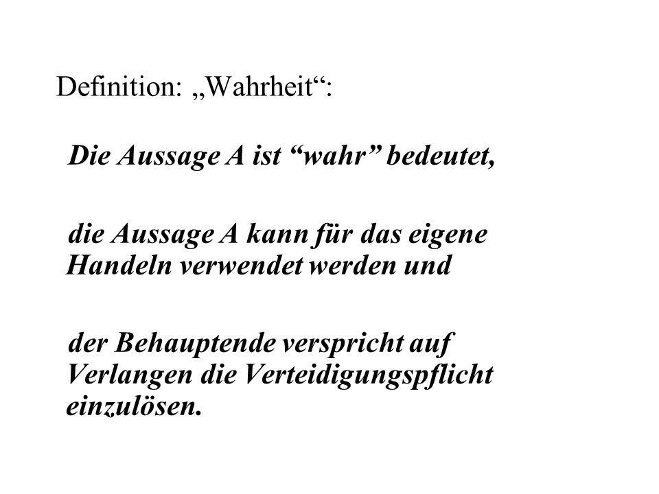"""Definition: """"Wahrheit :"""