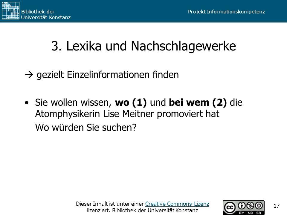 3. Lexika und Nachschlagewerke