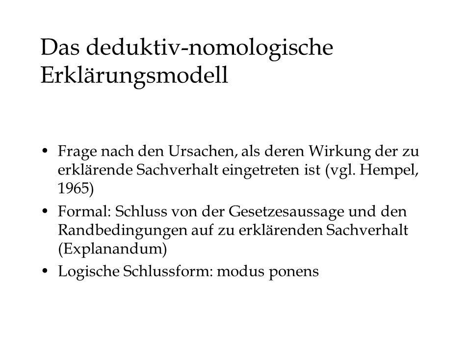 Das deduktiv-nomologische Erklärungsmodell
