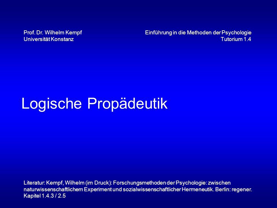 Einführung in die Methoden der Psychologie Tutorium 1.4