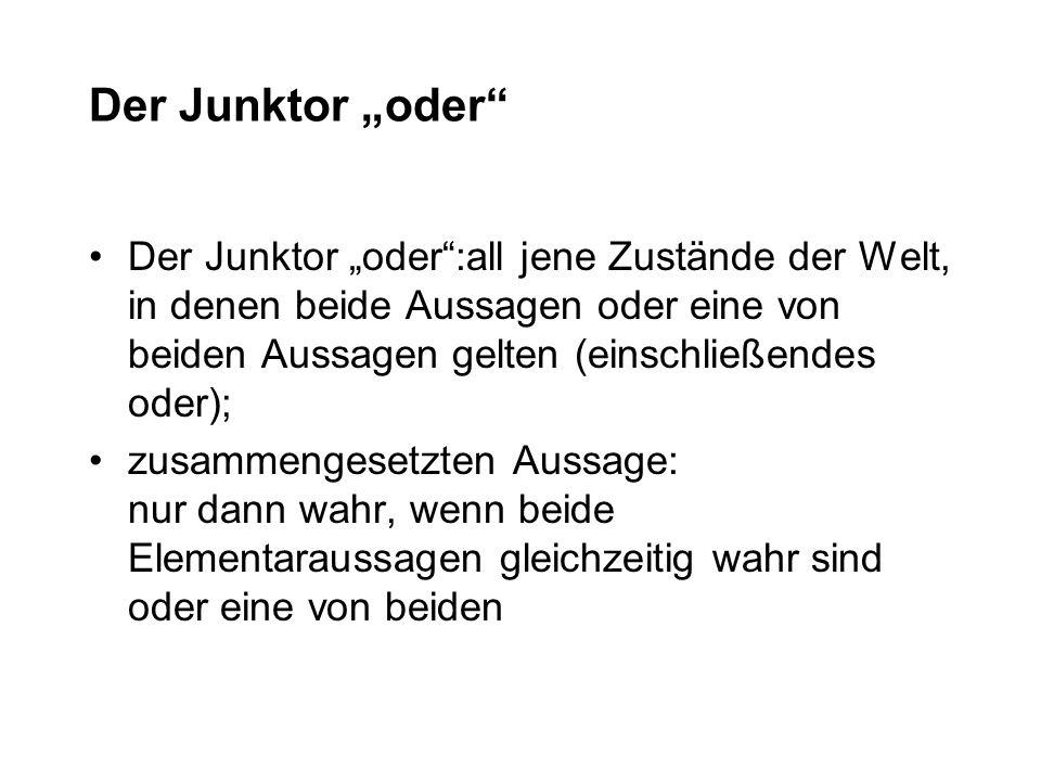 "Der Junktor ""oder"