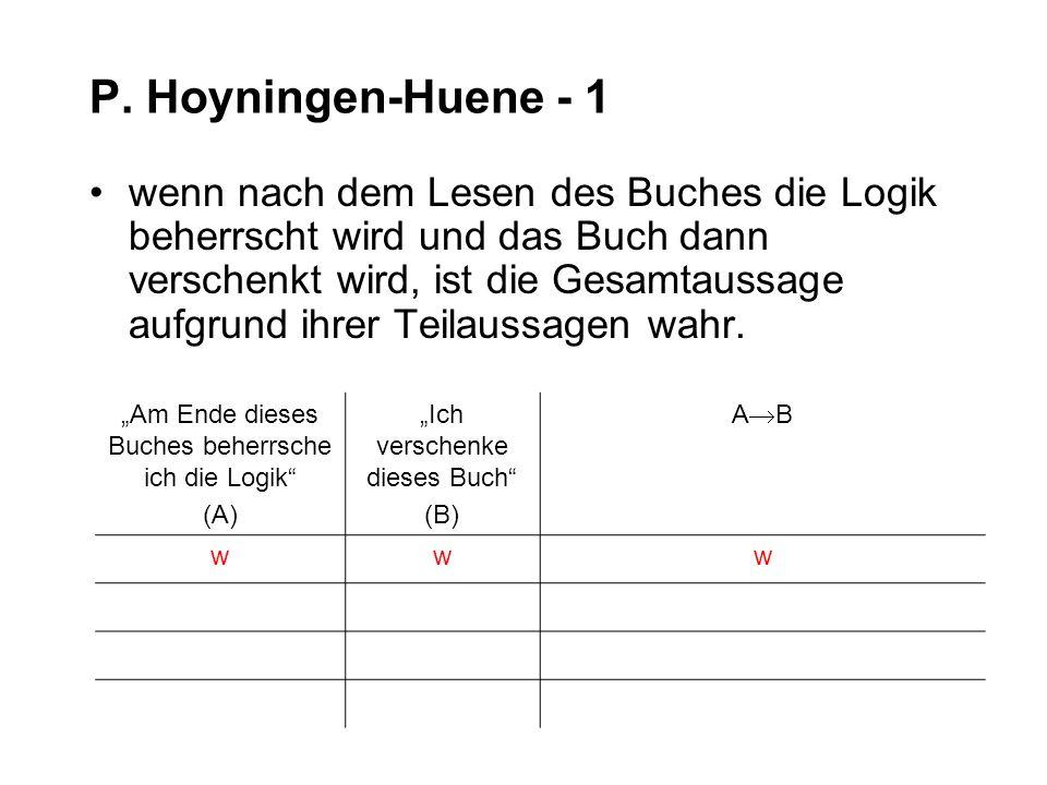 P. Hoyningen-Huene - 1