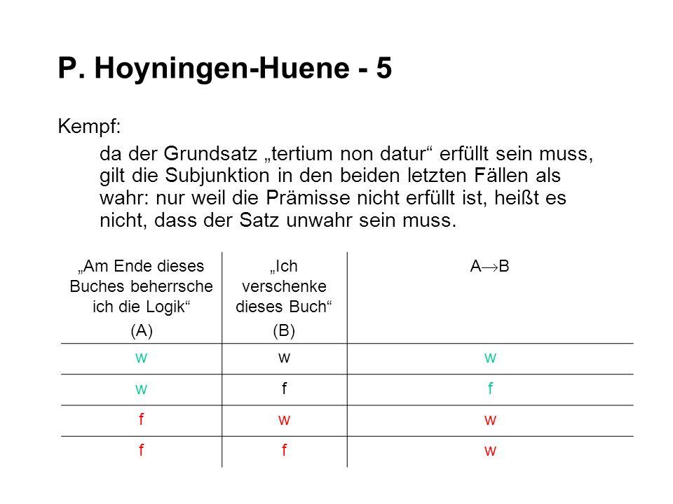 P. Hoyningen-Huene - 5 Kempf: