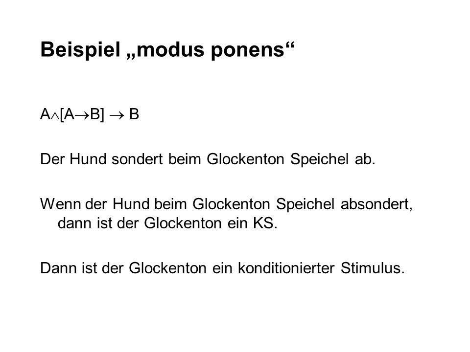 """Beispiel """"modus ponens"""