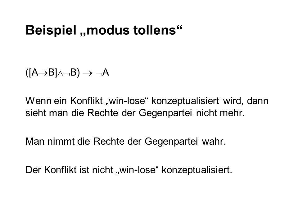 """Beispiel """"modus tollens"""