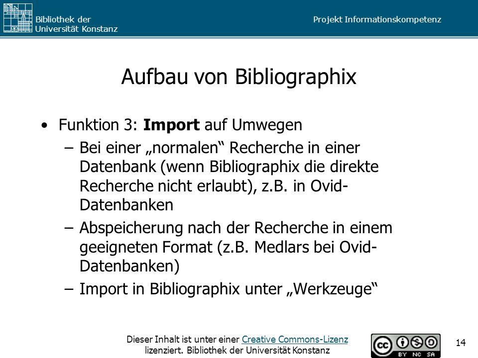 Aufbau von Bibliographix