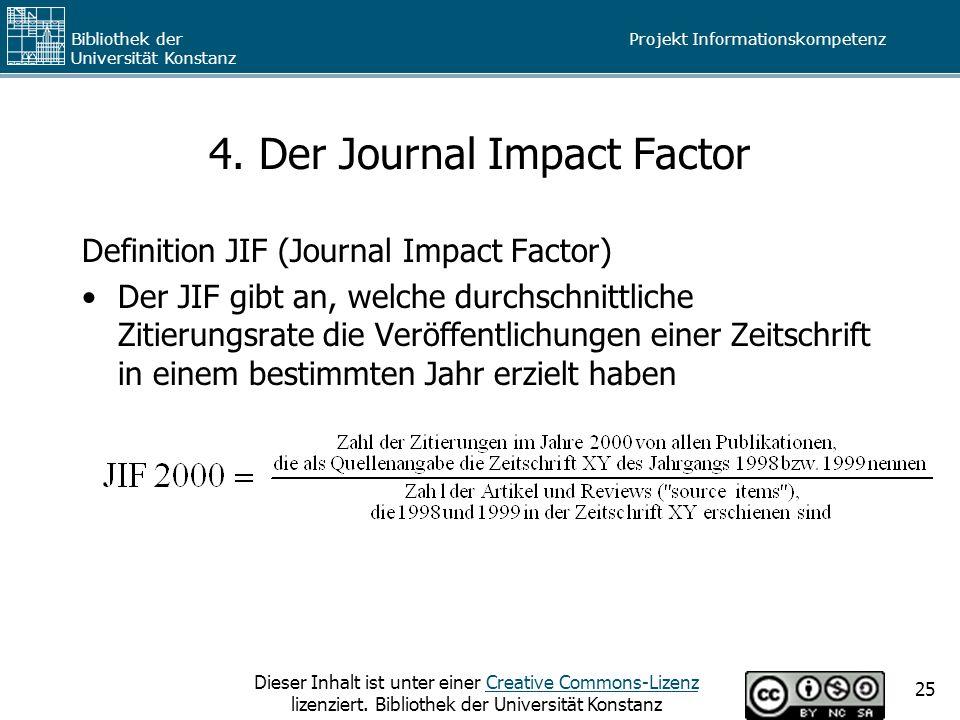 4. Der Journal Impact Factor