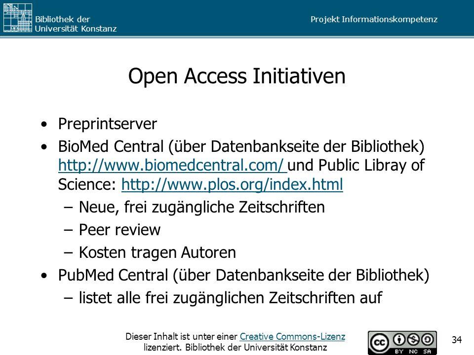 Open Access Initiativen