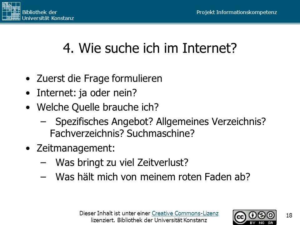 4. Wie suche ich im Internet