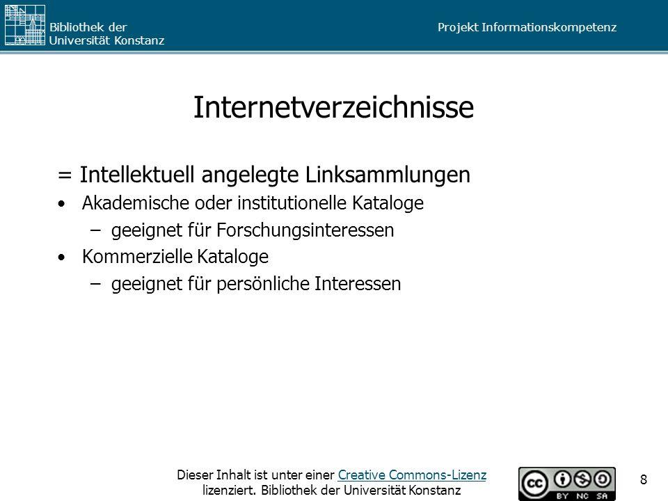 Internetverzeichnisse