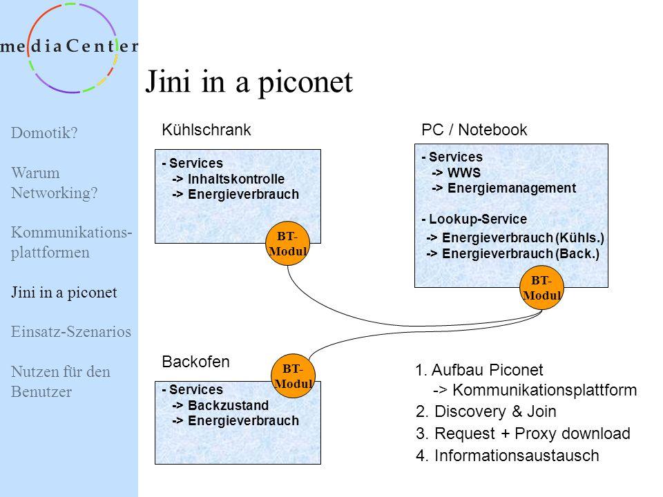 Jini in a piconet Kühlschrank PC / Notebook Backofen