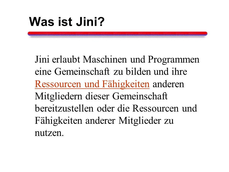Was ist Jini
