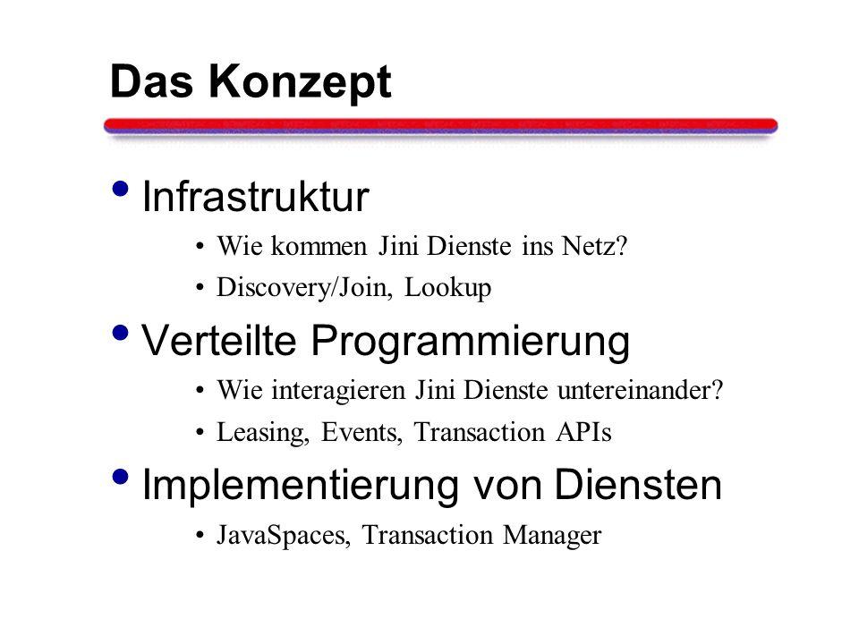 Das Konzept Infrastruktur Verteilte Programmierung