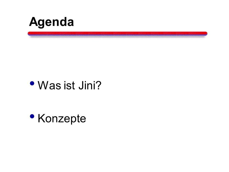 Agenda Was ist Jini Konzepte