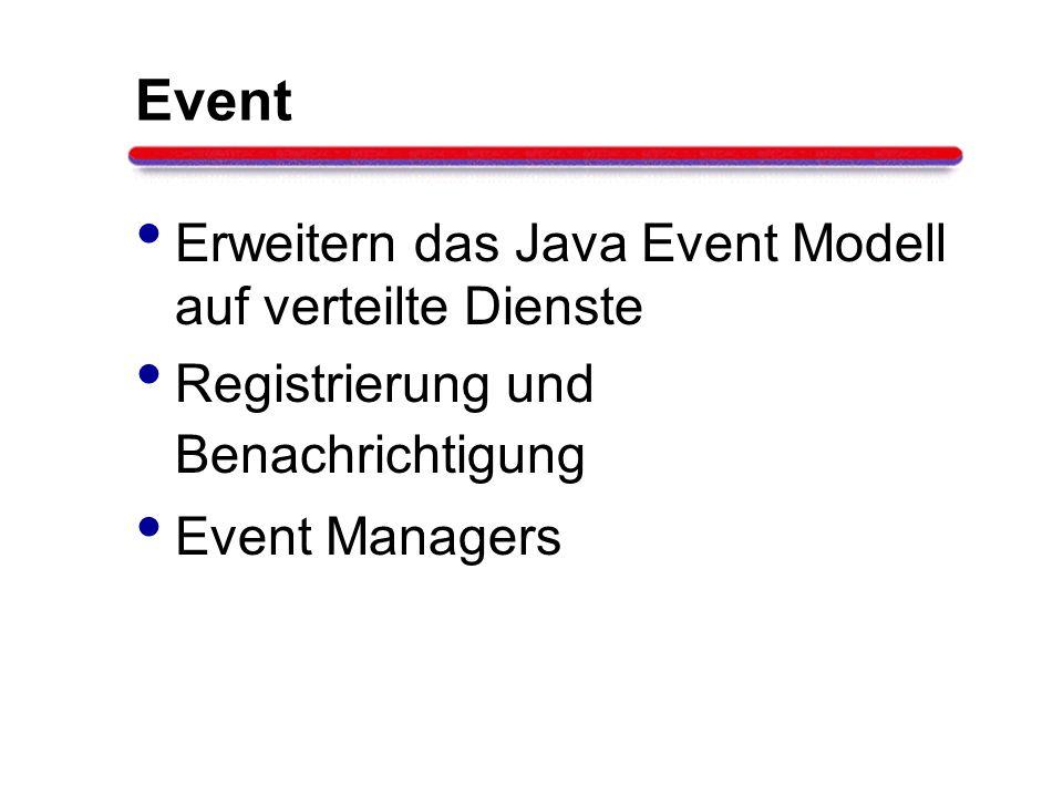 Event Erweitern das Java Event Modell auf verteilte Dienste