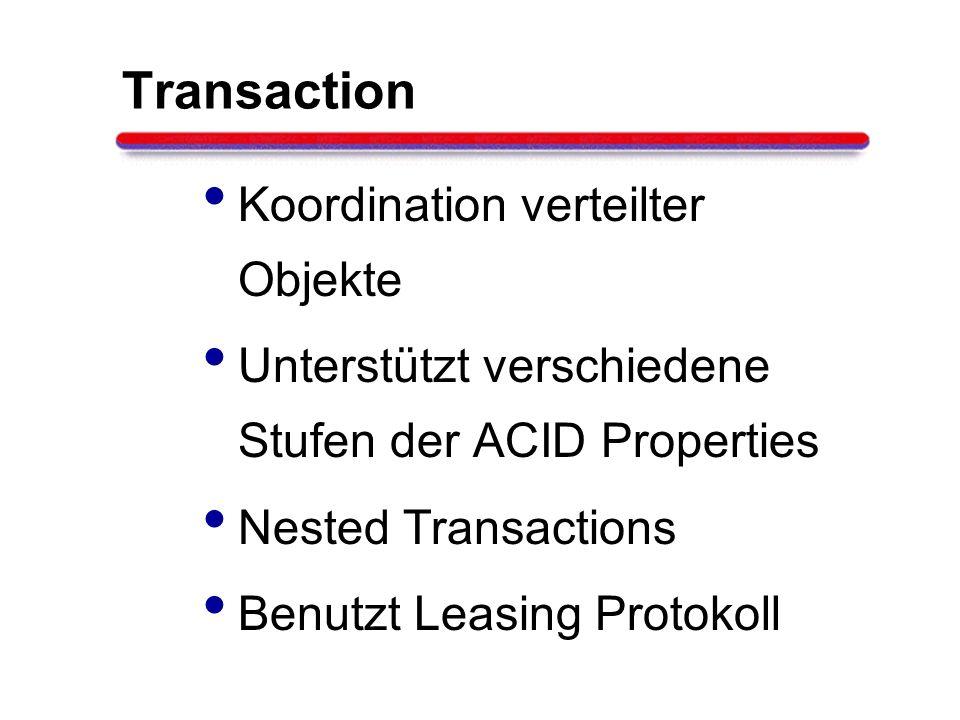Transaction Koordination verteilter Objekte