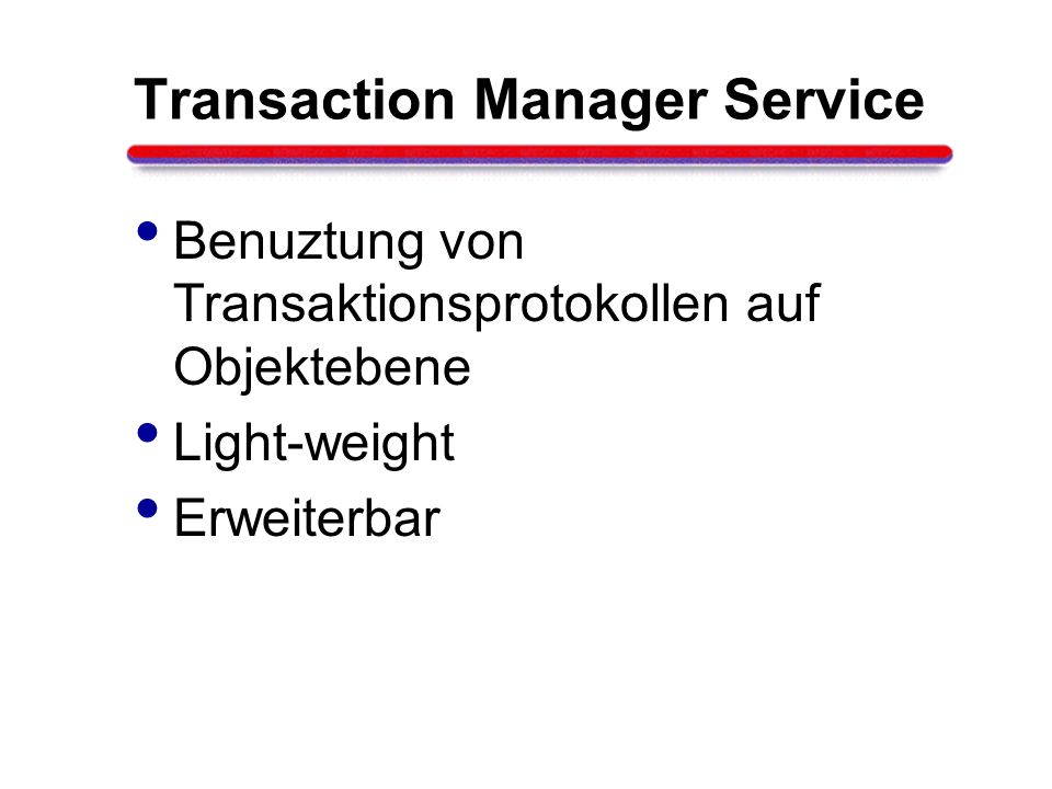 Transaction Manager Service