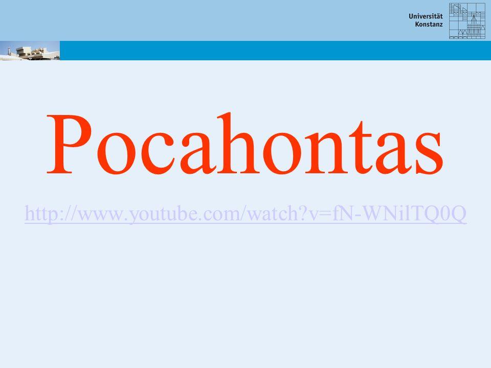 Pocahontas http://www.youtube.com/watch v=fN-WNilTQ0Q