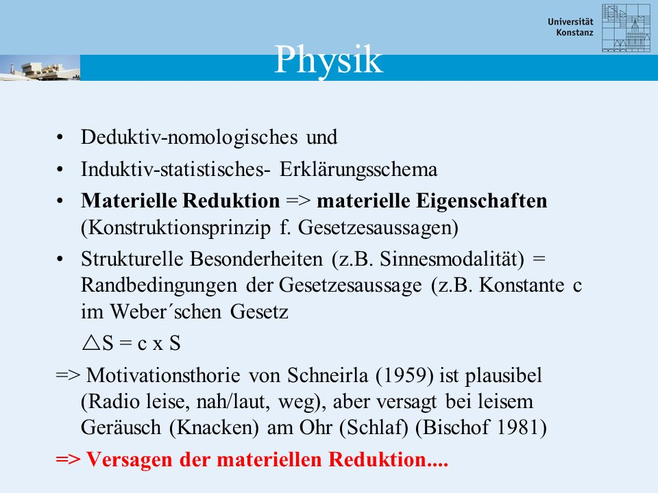 Physik Deduktiv-nomologisches und