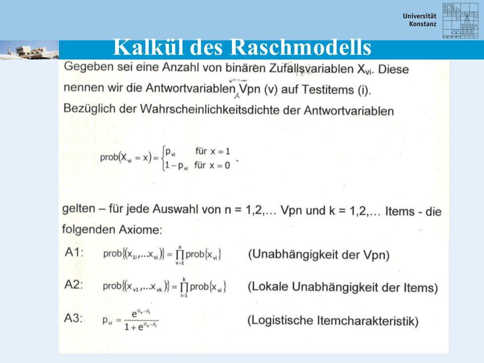Kalkül des Raschmodells