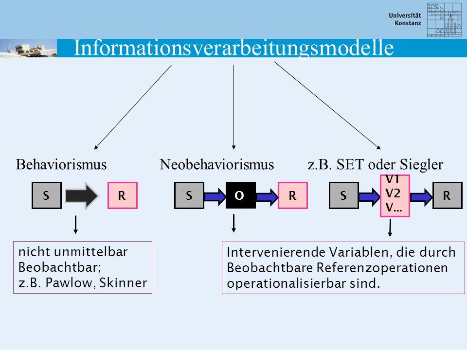 Informationsverarbeitungsmodelle