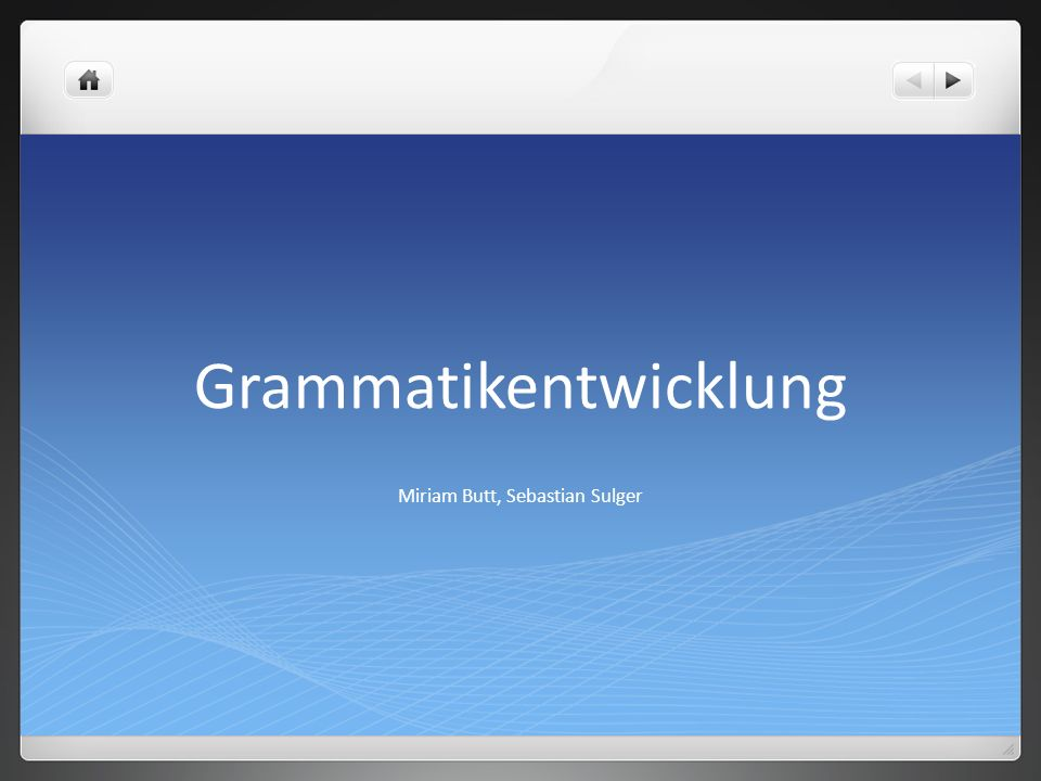 Grammatikentwicklung
