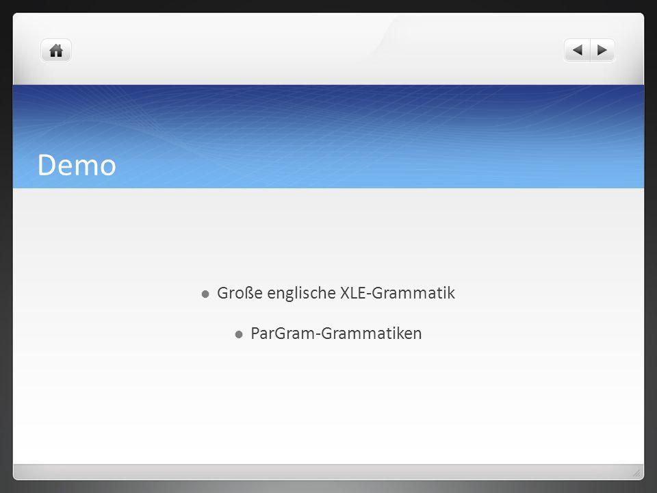 Große englische XLE-Grammatik