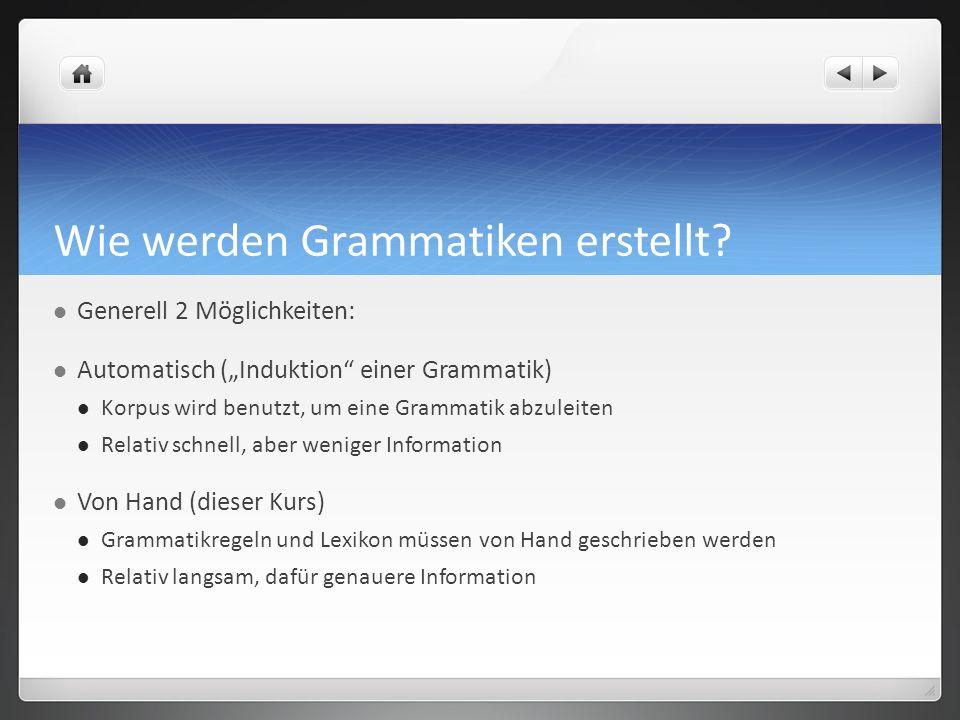 Wie werden Grammatiken erstellt