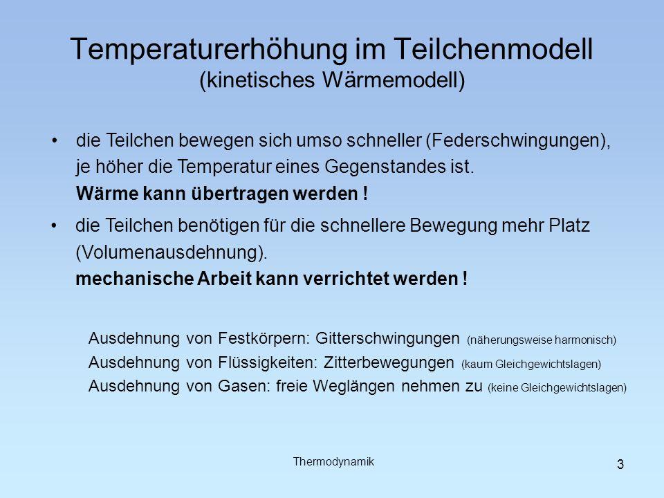 Temperaturerhöhung im Teilchenmodell (kinetisches Wärmemodell)
